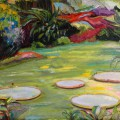 Water Lilies on the Pond, Art by Maite Rodriguez