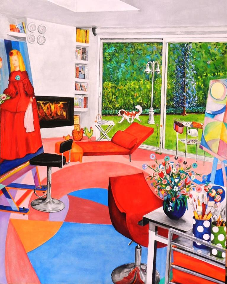 Studio, Oil painting by Maite Rodriguez