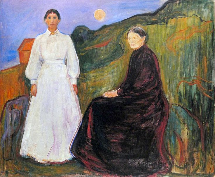 Mother and Daughter, Edvard Munch