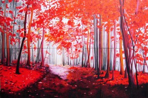 Red Forest, art by Maite Rodriguez
