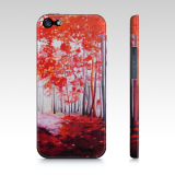 Iphone 5/5s Red Forest Phone Case, Art by Maite Rodriguez