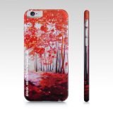 Iphone 6/6s Red Forest Phone Case Art by Maite Rodriguez