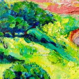 OIl painting by Maite Rodriguez, Landscape, Buy art, modern, contemporary, art,