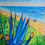 Santa Catalina by Maite Rodriguez, art, artwork, original art, painting, oil painting, cactus,