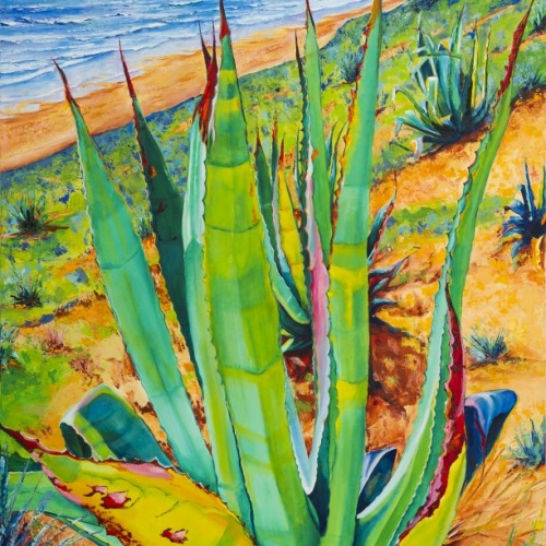 Fuentabravia, Oil on Canvas Maite Rodriguez, Original art, Modern Art, Realism, Modern, Expressionism, Nature