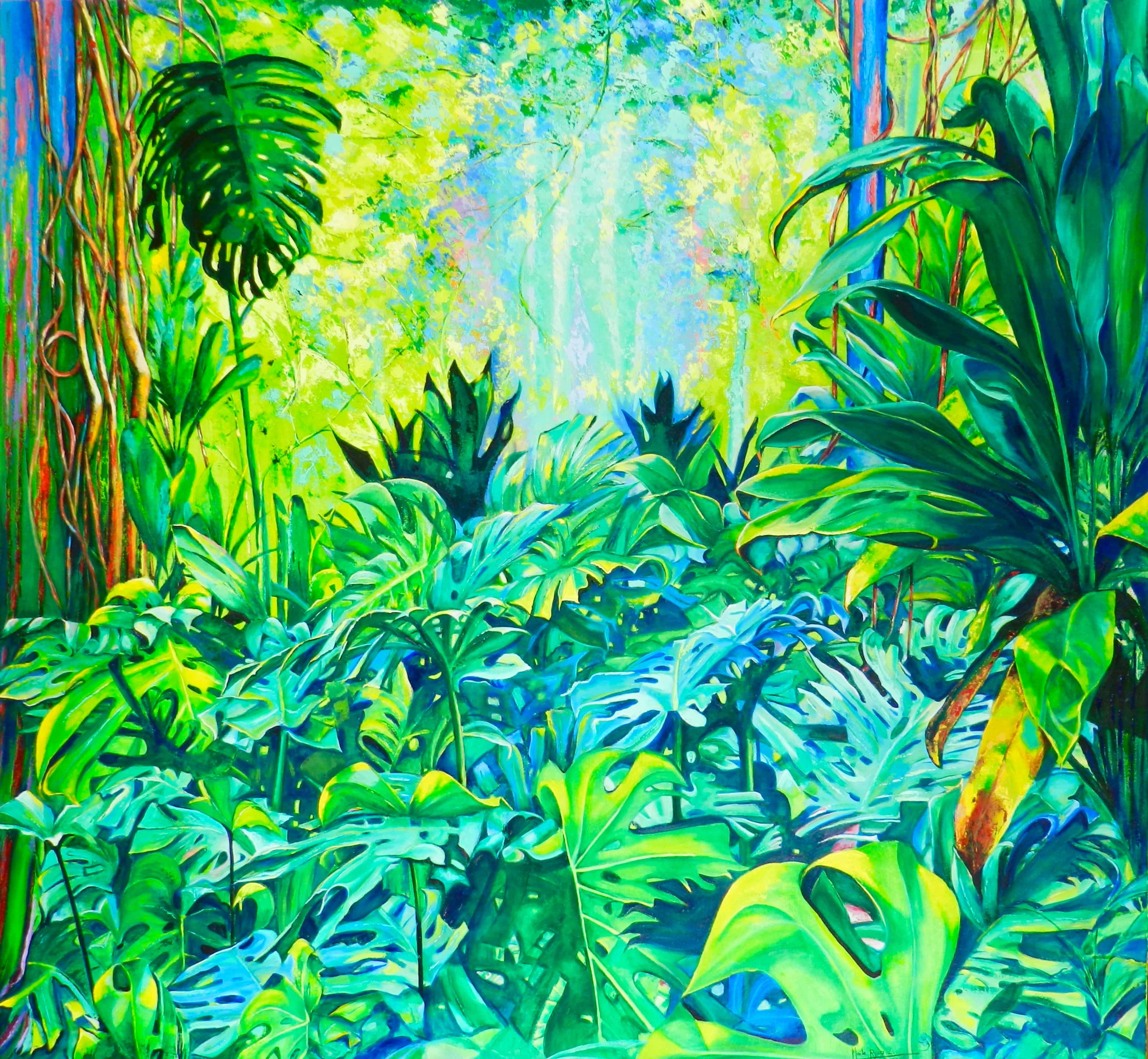 artist, art, buy art, Maite Rodriguez, magic forest, oil on canvas, original, canvas, españa, salamanca,