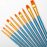 Draw Store - BRUSHES FOR ACRYLIC, OIL & WATERCOLOR - SET OF 10