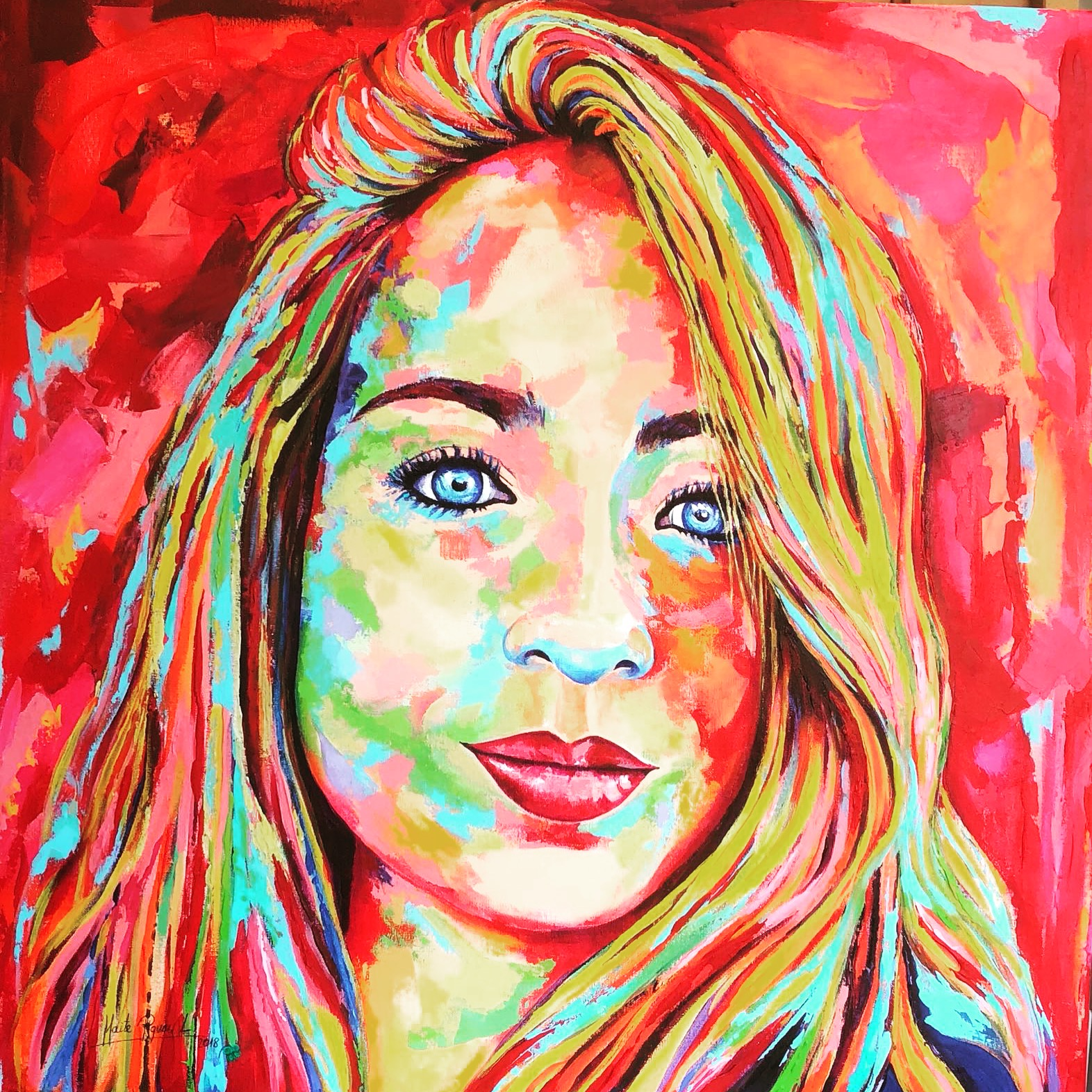 painting, art, Maite Rodriguez, oil painting, modern art, expressionism